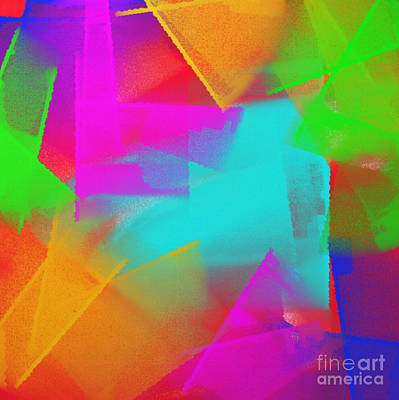 Multicolored Digital Art - Big Bold Colors 1  by Andee Design