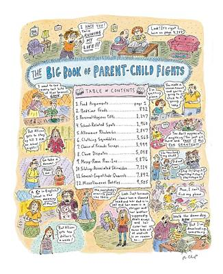 Clothing Drawing - 'big Book Of Parent-child Fights' by Roz Chast