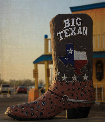 Photograph - Big Boot Of Texas by Kathleen Scanlan