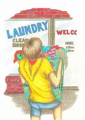 Drawing - Big Boy Helper by Lew Davis