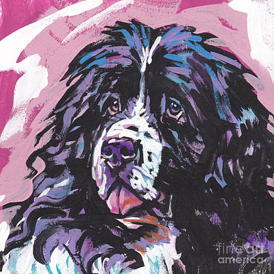 Newfoundland Puppy Painting - Big Boy by Lea S