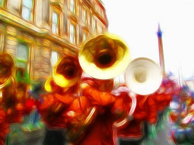 Marching Band Photograph - Big Brass Band by Sharon Lisa Clarke
