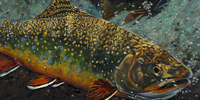 Painting - Big Brookie by Les Herman