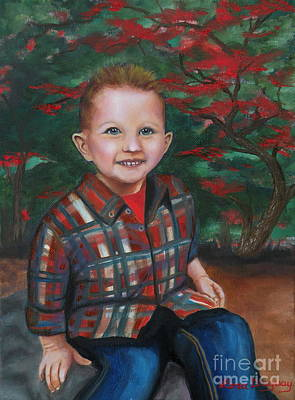 Painting - Big Brother Cameron by Lora Duguay