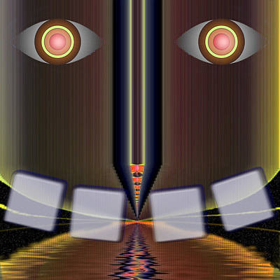 Tron Wall Art - Digital Art - Big Brother Is Watching by Mario Carini