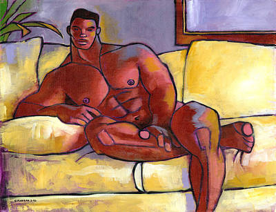 African American Painting - Big Brown by Douglas Simonson