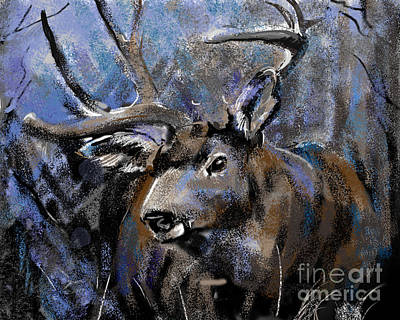 Painting - Big Buck by Synnove Pettersen