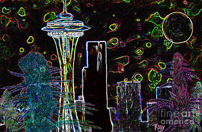 Big Bud Seattle Skyline  Art Print by Teddy Maritopia