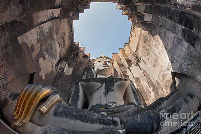 Big Buddha At Wat Sri Chum Sukothai  Art Print