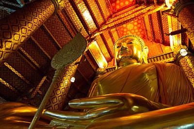 Big Buddha Art Print by Zestgolf