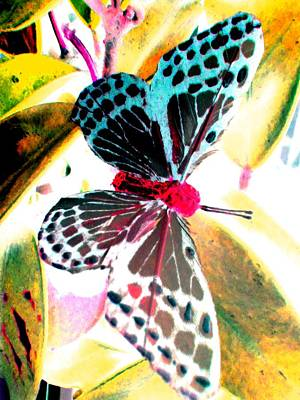 Art Print featuring the digital art Big Butterfly by Nico Bielow