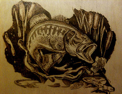 Pyrography Mixed Media - Big Catch by Dale Bradley