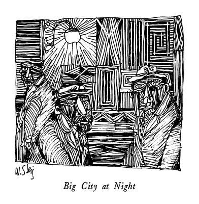 Big City At Night Art Print