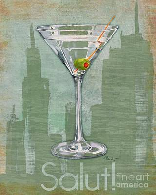 Painting - Big City Cocktails Martini by Paul Brent