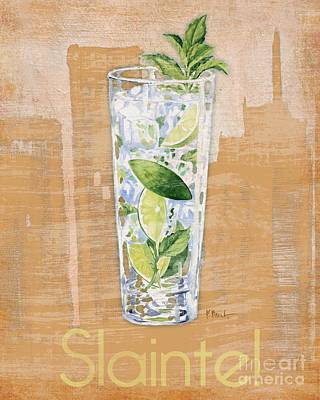 Wall Art - Painting - Big City Cocktails Mojito by Paul Brent