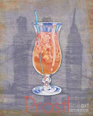 Wall Art - Painting - Big City Cocktails Singapore Sling by Paul Brent
