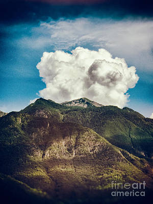 Photograph - Big Clouds Over The Alps by Silvia Ganora