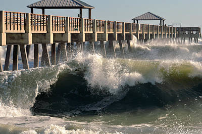 Florida House Photograph - Big Curl by Laura Fasulo
