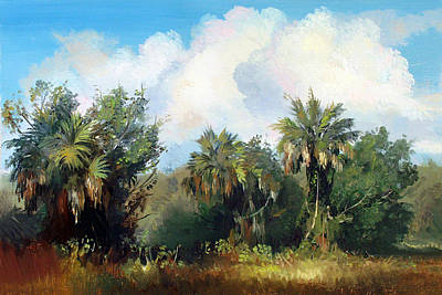 Painting - Big Cypress by Keith Gunderson