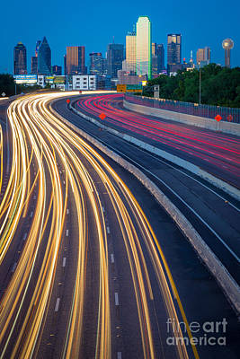 Traffic Photograph - Big D Freeway by Inge Johnsson