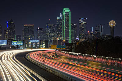Dallas Skyline Wall Art - Photograph - Big D by Rick Berk
