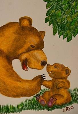 Pastel - Big Daddy High Five by Maria Urso
