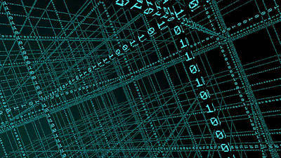 Big Data Art Print