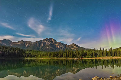 Big Dipper And Aurora Over Pyramid Art Print by Alan Dyer