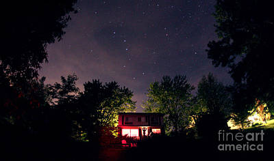 Little Cabin Photograph - Big Dipper And Little Dipper by John Chumack