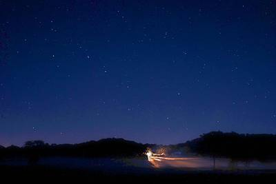 Big Dipper In The Valley Art Print by Larry Bodinson