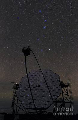Mirror Imaging Photograph - Big Dipper Over Magic Telescope, La Palma by Babak Tafreshi