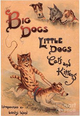 Nineteen-tens Drawing - Big Dogs Little Dogs Cats And Kittens by The Advertising Archives