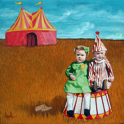 Big Dreams Circus Adventure Art Print by Linda Apple