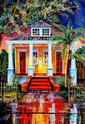 Vernacular Architecture Painting - Big Easy Bungalow by Diane Millsap