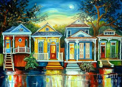Neighborhoods Painting - Big Easy Moon by Diane Millsap