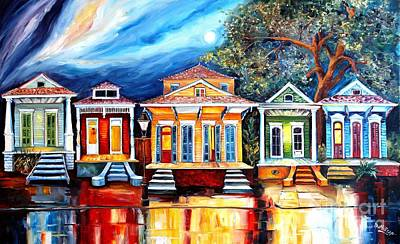 Louisiana Painting - Big Easy Shotguns by Diane Millsap