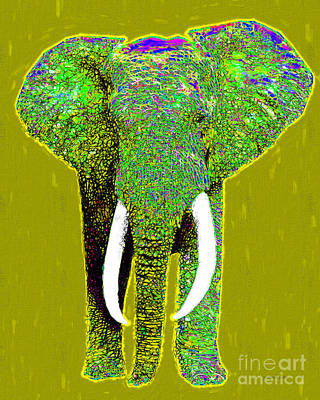 Big Elephant 20130201p60 Print by Wingsdomain Art and Photography