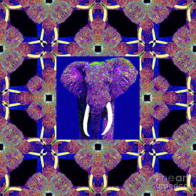 Big Elephant Abstract Window 20130201m118 Art Print by Wingsdomain Art and Photography