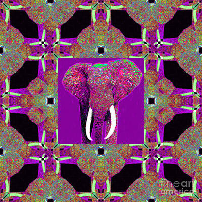 Big Elephant Abstract Window 20130201m68 Art Print by Wingsdomain Art and Photography