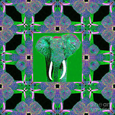 Big Elephant Abstract Window 20130201p128 Art Print by Wingsdomain Art and Photography