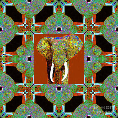 Big Elephant Abstract Window 20130201p20 Print by Wingsdomain Art and Photography