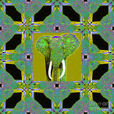 Big Elephant Abstract Window 20130201p60 Art Print by Wingsdomain Art and Photography