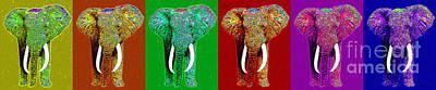 Big Elephant Six 20130201 Art Print by Wingsdomain Art and Photography