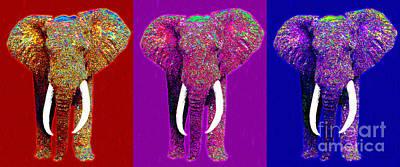 Big Elephant Three 20130201v2 Art Print by Wingsdomain Art and Photography