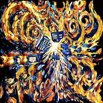 Fandom Painting - Big Exploded Phone Booth by Three Second