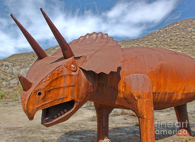 Painting - Big Fake Dinosaur - Triceratops by Gregory Dyer