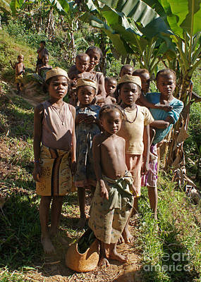 Photograph - big family from Madagascar by Rudi Prott