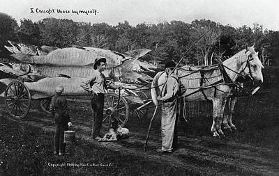 Fish Cart Painting - Big Fish, 1910 by Granger