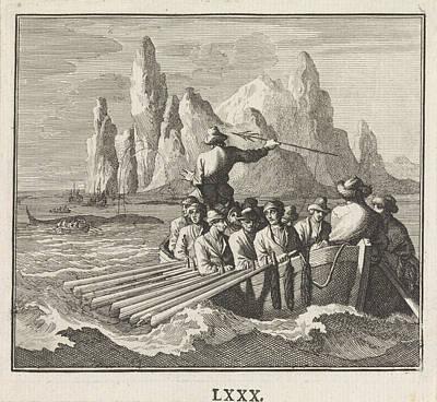 Whaling Drawing - Big Fish, Caspar Luyken, Christoph Weigel by Caspar Luyken And Christoph Weigel