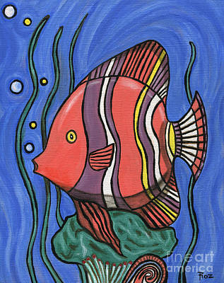 Painting - Big Fish by Roz Abellera Art